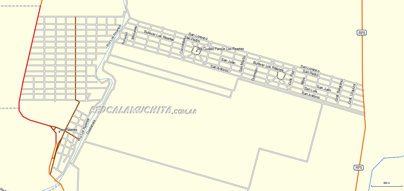 Mapa de Los Reartes