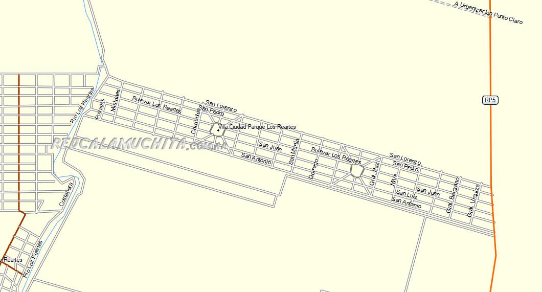 Mapa de Villa Ciudad Parque Cordoba